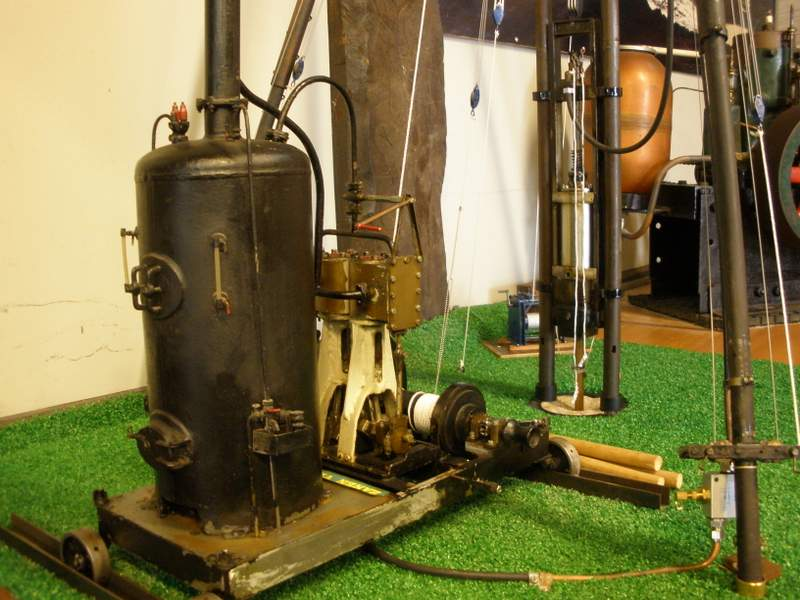 Schaalmodel stoomheimachine (Foto Nationaal Baggermuseum)