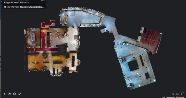 Drie D scan van Nationaal Baggermuseum